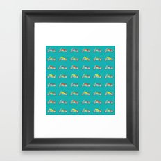 Motorcycle Madness Framed Art Print