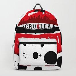 Cruella Villain Spots Red Lips Backpack