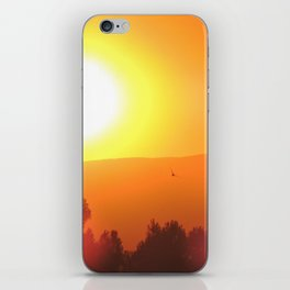 Golden Sunset in Spain iPhone Skin
