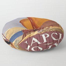 Vintage poster - Napoli Floor Pillow