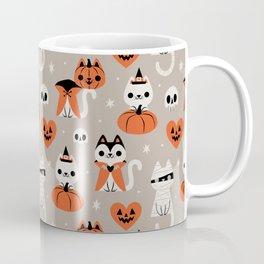 Halloween Kitties (Gray) Coffee Mug