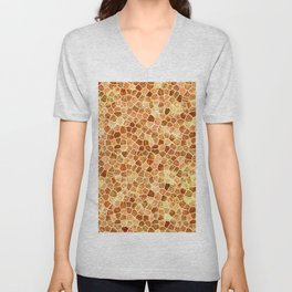 Faux Giraffe Skin Abstract Pattern Unisex V-Neck
