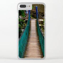 Swinging Bridge -Guam Clear iPhone Case