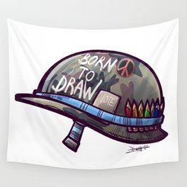 Born To Draw Wall Tapestry