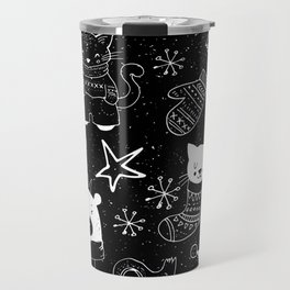 Merry Christmas - Simple X-mas Fun Doodle - Mix and Match with Simplicity of Life Travel Mug