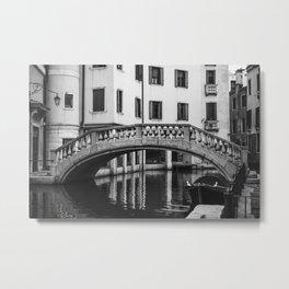 Calm Canal Metal Print