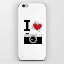 I love camera iPhone Skin