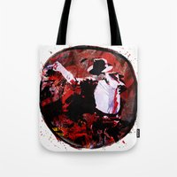 boxing Tote Bags featuring Boxing MJ by Genco Demirer