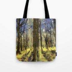 Peaceful Forest Van Gogh Tote Bag