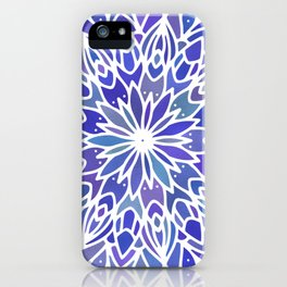 Mandala Vivid Blue iPhone Case