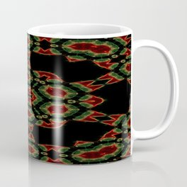 Red Green Crystal Mandala Coffee Mug