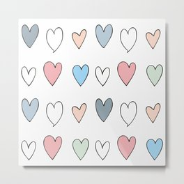 The hearts Metal Print