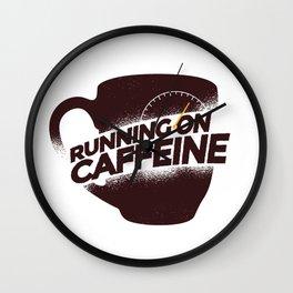 Cunning On Caffeine Wall Clock