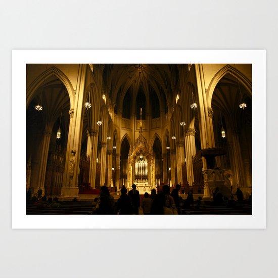 Saint Patricks Cathedral Art Print