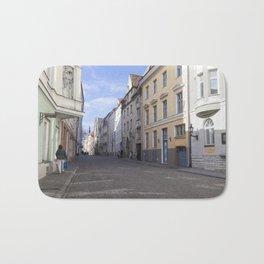 Streets of Tallinn Estonia Bath Mat