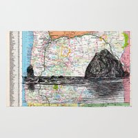 oregon Area & Throw Rugs featuring Oregon by Ursula Rodgers