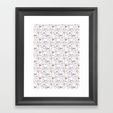 Heart Kids Pattern Framed Art Print