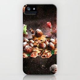 Funny Space Pasta Cat iPhone Case