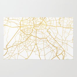 BERLIN GERMANY CITY STREET MAP ART Rug