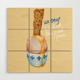 Un Oeuf With All The Food Puns Wood Wall Art