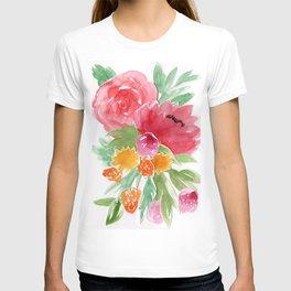 Floral Watercolor Bouquet T-shirt