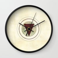 grunge Wall Clocks featuring Grunge by thinschi