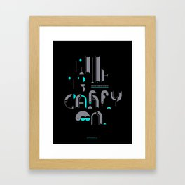 time to carry on Framed Art Print