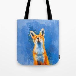 Happy Fox, inspirational animal art Tote Bag