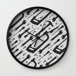 Tools Pattern Wall Clock