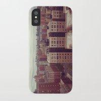 manhattan iPhone & iPod Cases featuring Manhattan by Adrianna Grężak