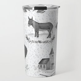 Political Toile Travel Mug