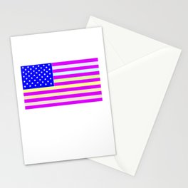 America the Beautiful Flag Pink Stationery Cards