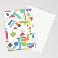 Geometry 1 colorful Stationery Cards