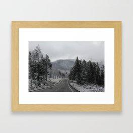 Gloomy weather Framed Art Print