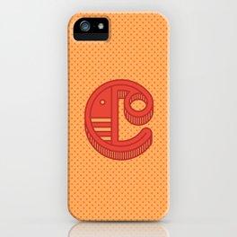 Monogram letter C iPhone Case