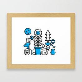 Garden in Blue Framed Art Print