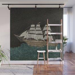 Tall Ship Wall Mural