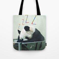 Sleepy Panda Tote Bag