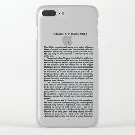 Heart of Darkness Joseph Campbell First Page Clear iPhone Case