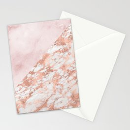 Rose gold & pinks marble Stationery Cards