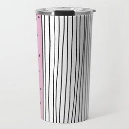 Dots & Stripes in pink Travel Mug