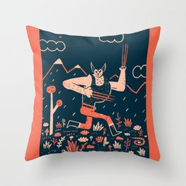 Wolverine is the Snikt Throw Pillow