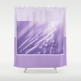 Ultra Violet Palm Tree Pattern| Trendy color of year 2018 Shower Curtain