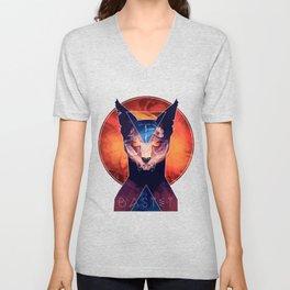 Bastet - Cat Goddess Unisex V-Neck