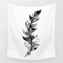 Poetic Feather Wall Tapestry