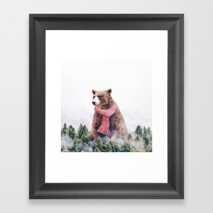 Cold Bear Gerahmter Kunstdruck