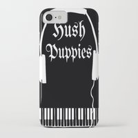 puppies iPhone & iPod Cases featuring Hush Puppies by Mike Semler