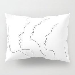 Side Faces Pillow Sham