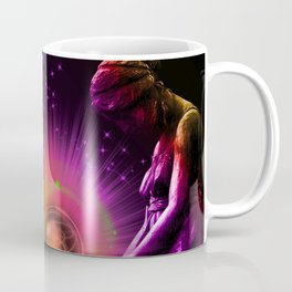 """Angel """"Release"""" Spritual All Rights Reserved Copyright Marie Plourde Moon Willow Designs Coffee Mug"""