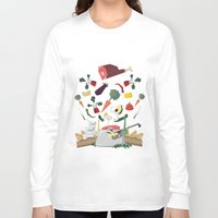 meat Long Sleeve T-shirts featuring MEAT DİNNER by Ceren Aksu Dikenci